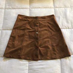Suede skirt (NWOT)